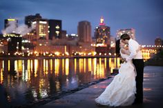 "A ""Midnight Garden Party"" themed wedding in St. Paul 