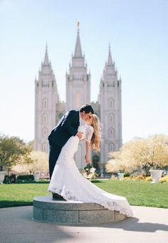 I love how the train hangs off the step. Wedding Goals, Wedding Beauty, Wedding Pictures, Temple Pictures, Wedding Ideas, Temple Wedding, Slc Temple, Bridal Poses, Marrying My Best Friend