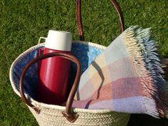 line a basket fine linen and purple