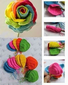 Crochet Roses How to Crochet Pretty Roses - Today we are going to show you – how to Crochet Pretty Roses. Crochet Pretty Roses will be a great gift for every woman on birthday. Crochet Diy, Crochet Motifs, Crochet Flower Patterns, Crochet Diagram, Love Crochet, Irish Crochet, Crochet Crafts, Crochet Stitches, Crochet Projects