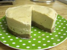 Raw healthy cheesecake.  This looks...interesting, but everyone who's made it says it's great, so we'll give it a shot!