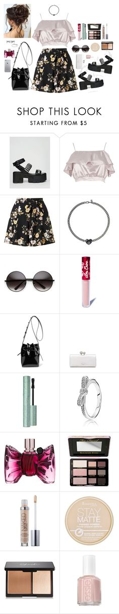 """""""🍦"""" by queen-of-anarchy ❤ liked on Polyvore featuring ASOS, River Island, Miss Selfridge, Lime Crime, Mansur Gavriel, Ted Baker, Pandora, Viktor & Rolf, Too Faced Cosmetics and Urban Decay"""