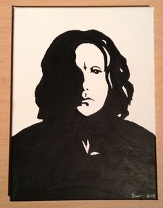 Snape Painting, Canvas Art, Harry Potter Painting, Harry Potter Decor, Severus Snape, Professir Snape