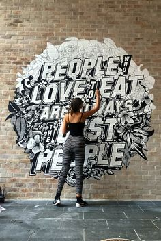TYPOGRAPHY QUEEN .. Love Gemma O'Brien? I find Gemma's typography incredibly inspiring. She's a very talented hand letterer and her designs are generally black&white and oftentimes incorporate pattern, image and hand lettering. My favourite one? This gorgeous mural! ;) #gemmaobrien #gemmaobrienart  #gemmaobrienmural  #gemmaobrienlettering #gemmaobrienillustrations #gemmaobrientypography