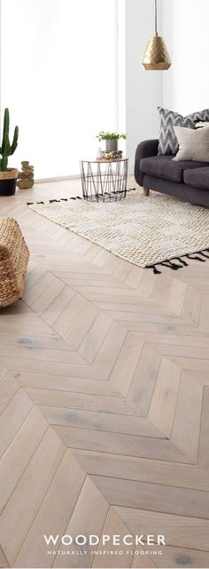 Take a closer look and discover your dream floor with free flooring samples. Order from our website and we'll pop them in the post. Natural Wood Flooring, Parquet Flooring, Wooden Flooring, Style At Home, Living Room Designs, Living Room Decor, Wood Floor Design, Chevron Floor, Living Room Flooring