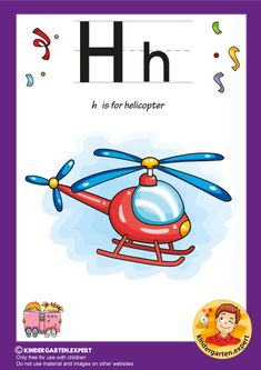 H is for helicopter, kindergarten expert, free printable Letter P Activities, Letter Worksheets, Preschool Activities, Letters For Kids, Alphabet Letters, Phonics, Free Printables, Kindergarten, Grade 1
