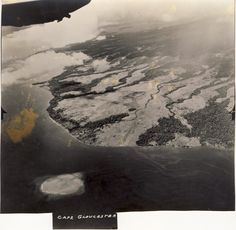 Pacific Air War Archive | Aerial View of Cape Gloucester, New Britain. Aerial photo of Cape Gloucester, West New Britain, Papua New Guinea used for intelligence purposes.