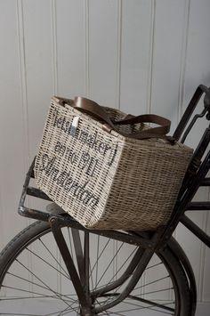 bike with wicker basket