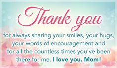 Free Thank You Mom eCard - eMail Free Personalized Mother's Day Cards Online