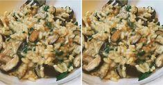Talianske rizoto s hubami - Receptik. Penne Alfredo, Grape Jelly Meatballs, Creamy Potato Soup, Tomato Salad Recipes, Pizza Bites, Diet Food List, Meatball Recipes, Dried Tomatoes, Caprese Salad
