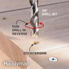Makeshift Countersinking Tip