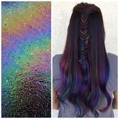 Oil slick balayage by @monicaprusa