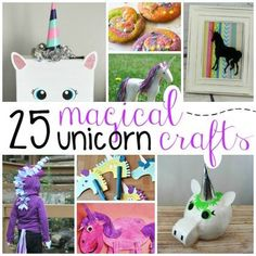 Too cute! Magical Unicorn Crafts for Kids | www.playideas.com