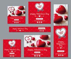Recursos para san valentin: vectores, archivos psd y fondos