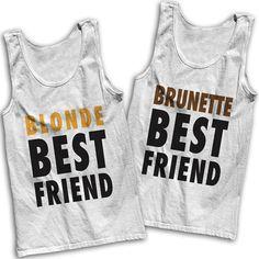 Blonde & Brunette Best Friends Tees by AwesomeBestFriendsTs #bestfriends