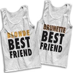 Blonde & Brunette Best Friends Tees by AwesomeBestFriendsTs #bestfriends