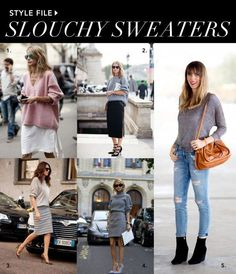 How to style slouchy sweaters #fashion #style  www.glamorousobsessions.com