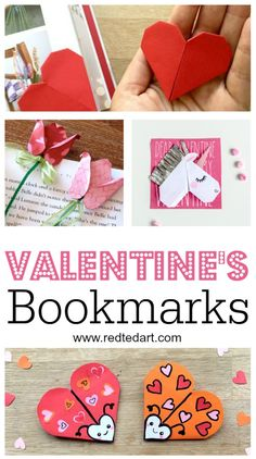 We like to keep things simple . and these Valentine& Bookmark Designs make geat easy Valentine& Day Gifts fork kids to make. Easy Valentine& Bookmark designs day gift boyfriend day gift girl day gift him day gift ideas day gift kids day gift teacher Valentines Day Gifts For Friends, Valentines For Kids, Valentine Day Crafts, Holiday Crafts, Holiday Fun, Bookmarks Kids, Corner Bookmarks, Handmade Bookmarks, Valentine's Day Crafts For Kids