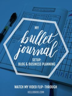 Here's how I'm using my bullet journal to plan for my blog and business. Read the post for sample layouts and watch the video to see a flip-through!
