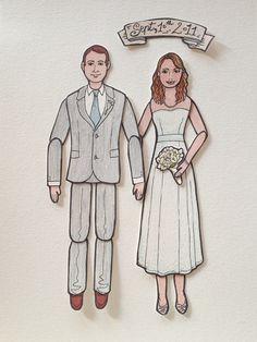 Articulated Paper Dolls  WEDDING edition Custom by LaCatrinaArt