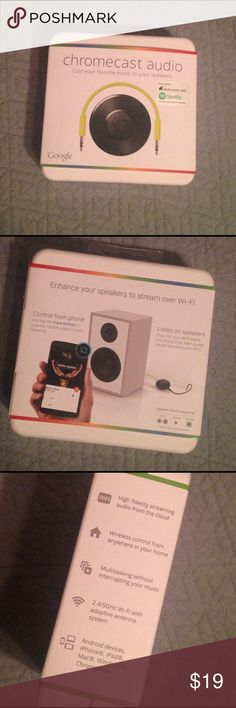 Chromecast audio (Google) Cast your favorite music to your speakers google Other