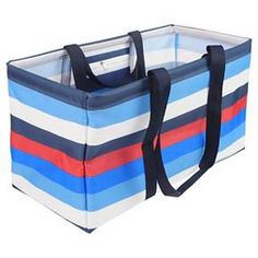 """EV-Summer- This versatile tote is spacious and sturdy. Made of durable polyester with a high-capacity construction. It's the perfect tote to keep you organized on the go or at home. Available in 4 different patterns and the tote collapses for easy storage.<br><br>21.5"""" wide x 10"""" deep x 11.75"""" high<br>Made of 100% polyester..<br>Features one interior zipper pocket and 2 handles for hands and shoulders.<br>Spot clean."""