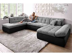 Ecksofa u form  Wohnlandschaft Lomo | Das große Sofa in U-Form bieten sagenhaft ...