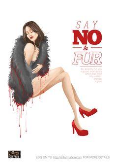 Anti-Fur Poster on Behance