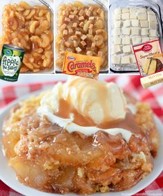 When you need a quick and easy shortcut dessert that tastes good enough to serve for company, make this Caramel Apple Dump Cake. Simple ingredients like apple pie filling, cinnamon, nutmeg, cake mix, and butter come together to make one amazing dessert! Apple Dump Cakes, Dump Cake Recipes, Apple Pie Cake, Apple Carmel Dump Cake, Carmel Cake, Cake Filling Recipes, Dessert Recipes, Easy Desserts, Delicious Desserts