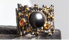 925シルバー natural   pearls Ring Tourmaline lapis lazuli Garnet Emerald(Etsy のmikaincより) https://www.etsy.com/jp/listing/573506690/925shirub-natural-pearls-ring-tourmaline