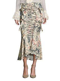 Zimmermann Cavalier Strapped Floral Skirt