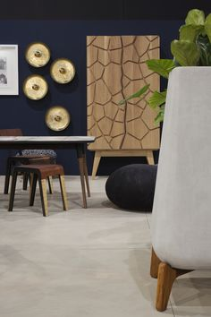 Cemcrete's CreteCote Sand Dollar was used to coat the floor. CreteCote is a thin cementitious skim coating perfect for renovations. Patio Flooring, Concrete Floors, Skim Coating, Floor Finishes, Lazy Days, Future House, Accent Chairs, It Is Finished, Contemporary