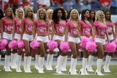 Tennessee Titans cheerleaders wear pink for breast cancer awareness ...