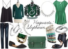 Inspired By: Hogwarts Houses {Slytherin} by sarahstrauss on polyvore