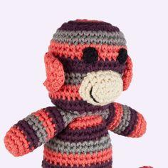 The mini Monkey Crochet Rattle by Pebble
