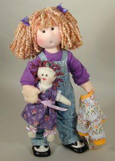 Adorable 14 inch cloth rag doll sewing pattern Tasha PDF