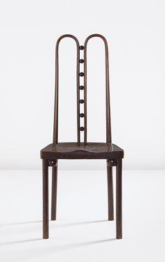 Josef Hoffmann; #371 Stained Beech Side Chair by Jacob & Josef Kohn for the Kunstschau Wien, c1908.