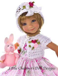 Dress for Effner 13, Little Darling. Roses,   * Little Charmers Doll Designs #LittleCharmersDollDesigns