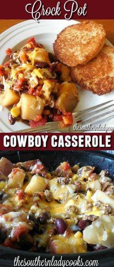 CROCK POT COWBOY CASSEROLE - DIARY RECIPES
