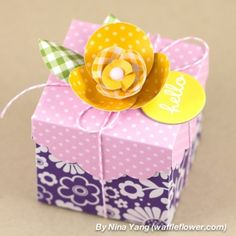 Roses are red, violets are blue, this box is the cutest and perfect for you! @waffleflowercrafts