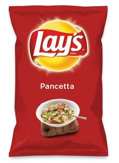 Wouldn't Pancetta be yummy as a chip? Lay's Do Us A Flavor is back, and the search is on for the yummiest chip idea. Create one using your favorite flavors from around the country and you could win $1 million! https://www.dousaflavor.com See Rules.