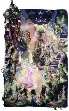 Queen Clarion making an announcement to the fairies and sparrow men of Pixie Hollow (Terence, Tinkerbell, Lympia, Laitia, Fira, Prilla & Rani). Disney Fairies, Tinkerbell, Pixie Hollow, Any Images, Announcement, Fairy, Queen, Anime, Faeries