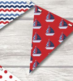NAUTICAL BUNTING - CHILDRENS PLAY ROOM / BEDROOM / HOME/ BIRTHDAY-18 FLAGS!!