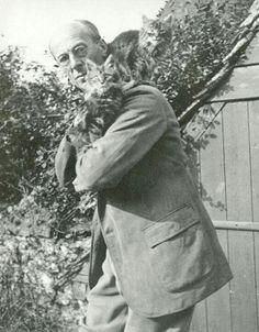 Arthur Rackham and his cats
