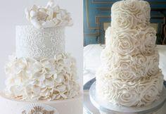 Красивый свадебный торт белый
