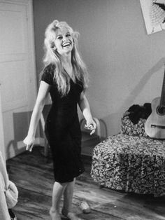 "Actress, Brigitte Bardot, While Making the Film ""Lady and the Puppet"". By Loomis Dean"