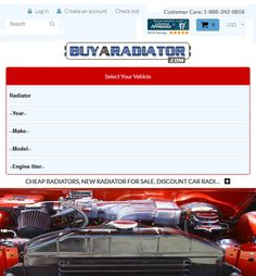 Shopify Website Development for Automotive Industry, USA - BuyARadiator Discount Car, Website Development Company, Automotive Industry, Location, Ecommerce, Engineering, Industrial, Usa, Industrial Music