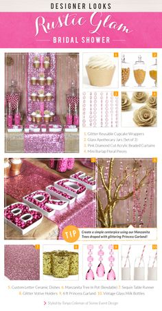 Rustic Glam Bridal Shower – Pink & Gold « The Daily Design by Koyal Wholesale