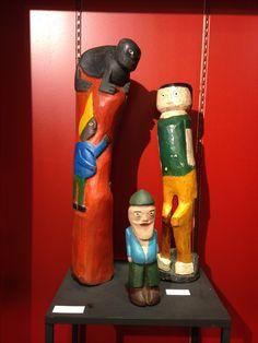 Esculturas - Eloni e Nino (foto: Lucyana Costa | exposição Liramartes | acervo pessoal: Carlos Augusto Lira)