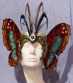 Green Reflector Butterfly Mask by belfrymasks on Etsy, $145.00